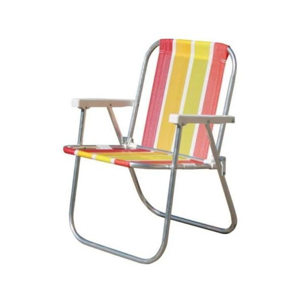 Cadeira Praia/Varanda Alumínio Cores CAD0047 Botafogo