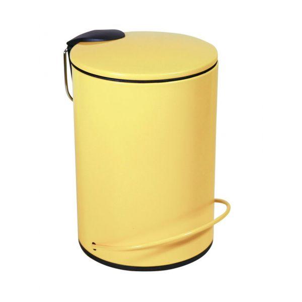 Lixeira Redonda 3L HIE-1777 Amarela Kobe