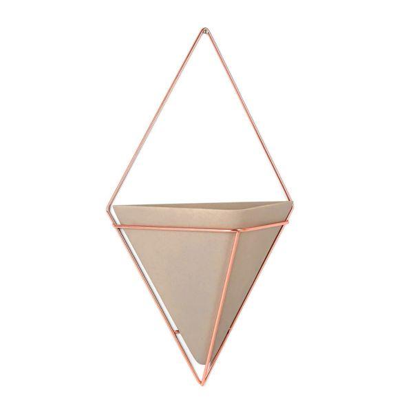 Adorno de Parede/Vaso Trigg Grande Cinza/Bronze Umbra