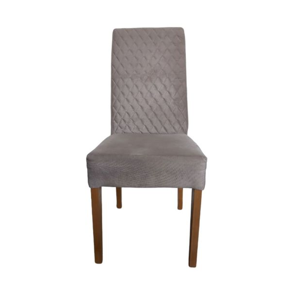Cadeira KR028 Camurça Uberaba Embuia Mel Kr Móveis