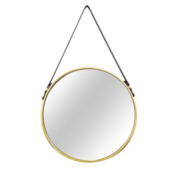 Espelho em Metal 75.5x45.5  Dourado Mart Presentes