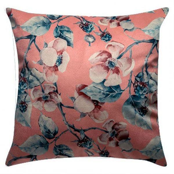 Capa Almofa 45x45 Veludo Floral Romance Madritex