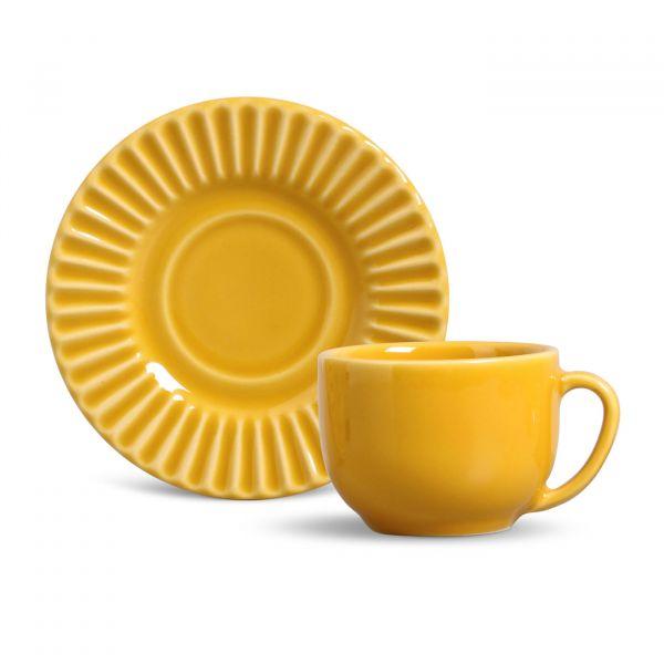 Xícara de Chá Plisse 410286  Mostarda Porto Brasil