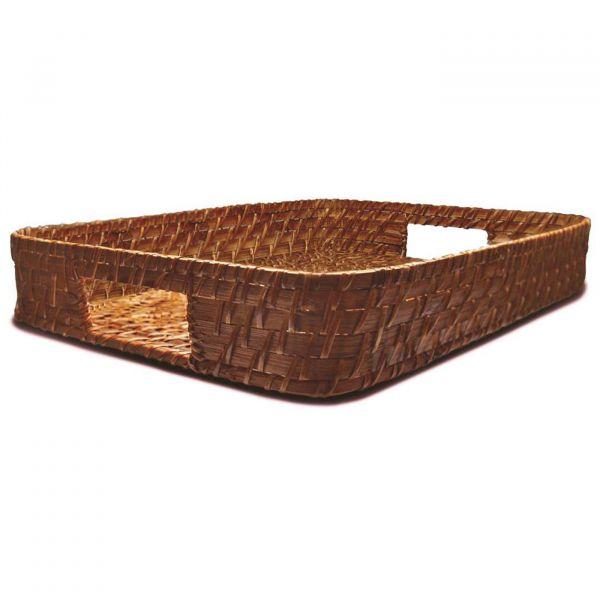 Bandeja Retangular Rattan 35cm  Bambu Yoi