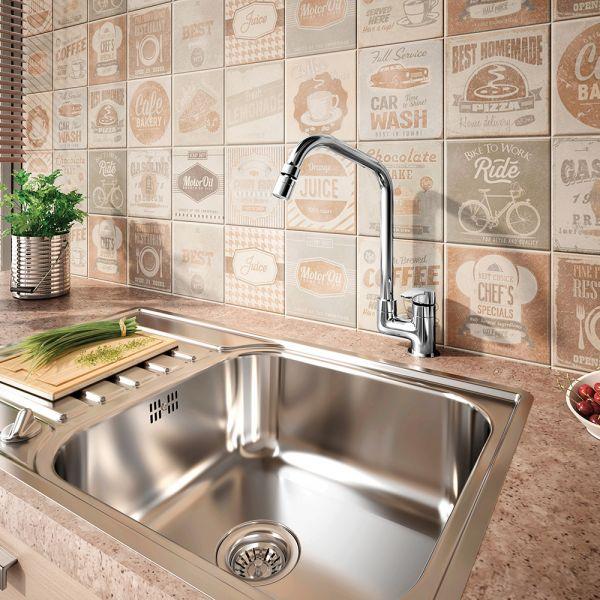 Torneira Cozinha Mesa Bica Móvel 1167 C57 LorenMove Cromado Lorenzetti