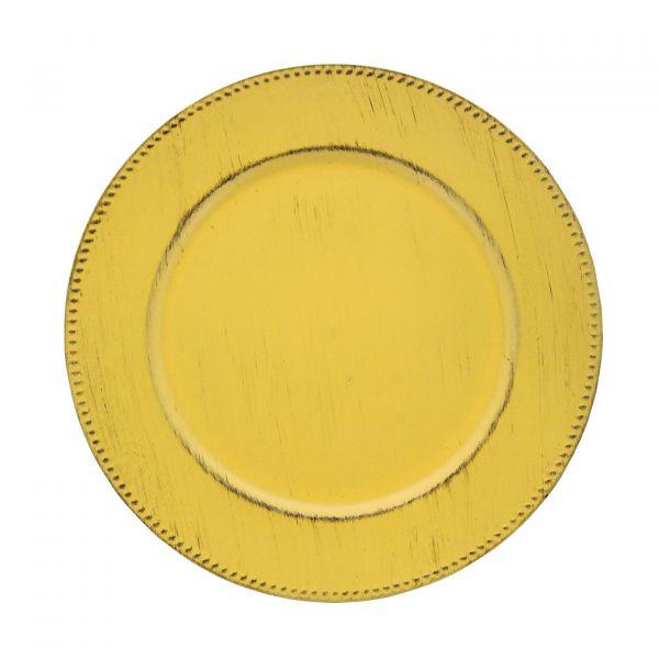 Sousplat Poa 33cm SP1742AM Amarelo Mimo