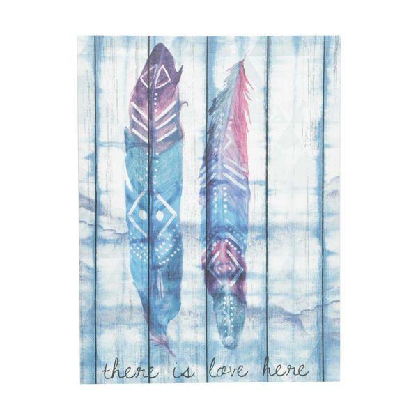 Tela Hawai Double Feathers 30x40x1,5  Roxo/Azul Urban