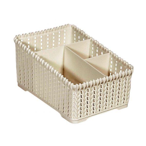 Organizador Plástico 19.2x12.9x10.3 Creme Kobe