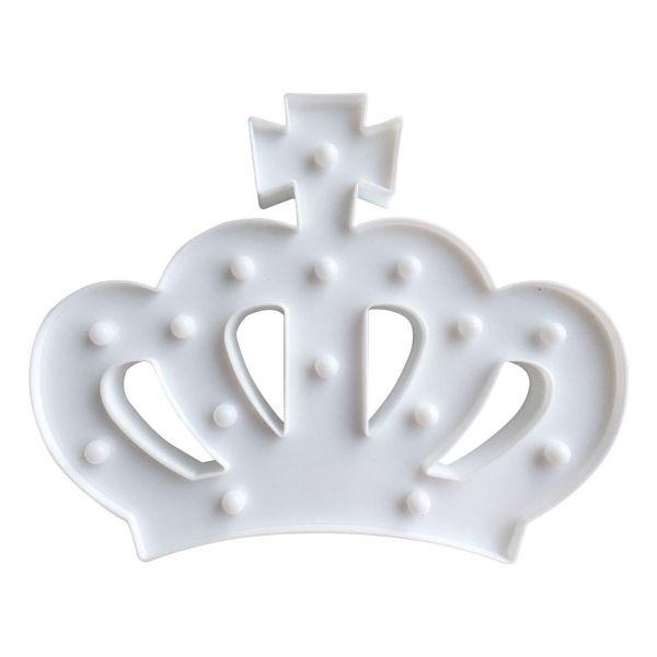 Luminária Led Coroa Branca Kobe