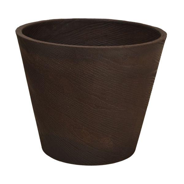 Vaso Redondo Plástico 55x45cm Hm55  Marrom
