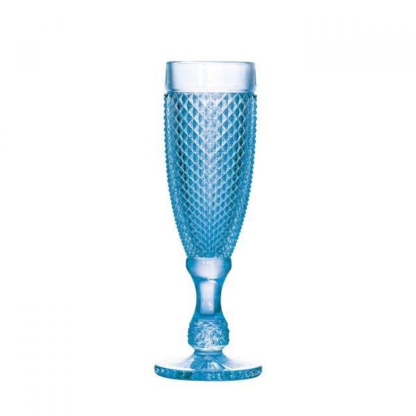 Conjunto Taça Champagne Bico Jaca 6pç 25894 185ml Azul  Bon gourmet