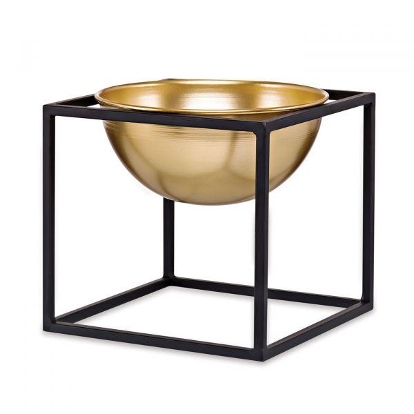 Vaso Metal com Suporte 09407p 15x17cm Mart Presentes