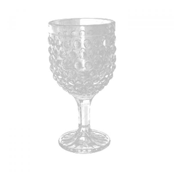 Conjunto 6 Taças Para Vinho de Vidro Bubble 260ml Lyor