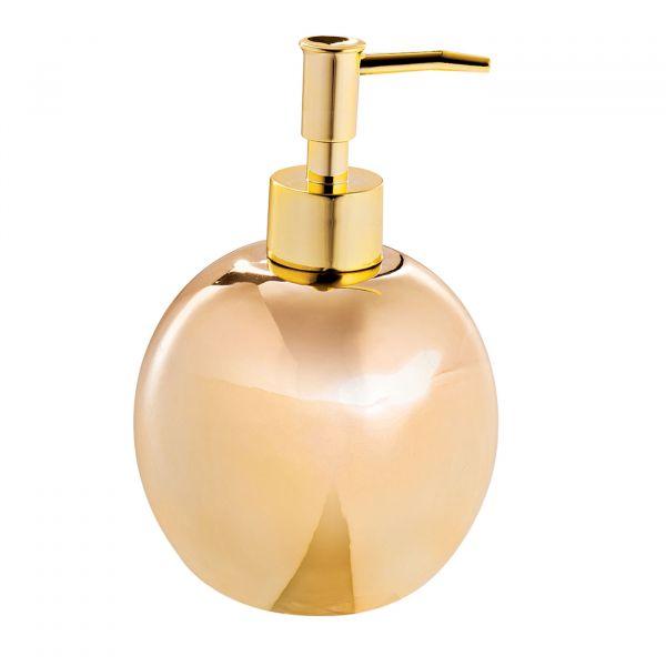 Porta Sabonete Liquido Ceramica 09501 Dourado Mart Presentes
