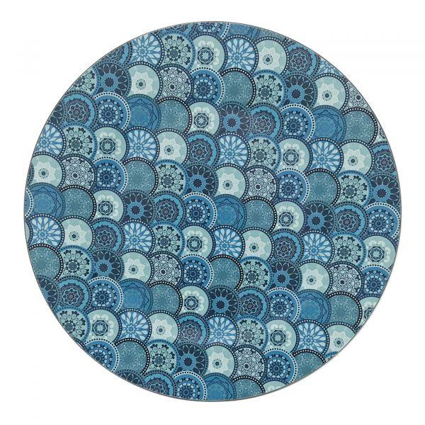 Sousplat Bhavana 33cm SP1838 Azul Mimo