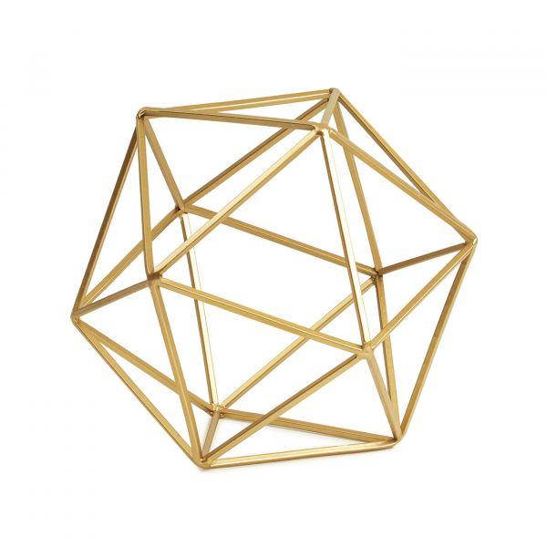 Peça Decorativa Geométrica Metal 09450 Dourada Mart Presentes