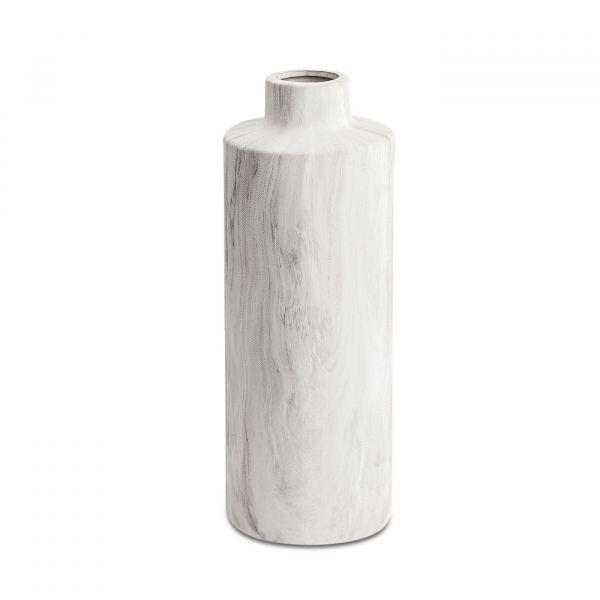 Vaso Cerâmica/Mármore 10171 10x29cm Mart Presentes