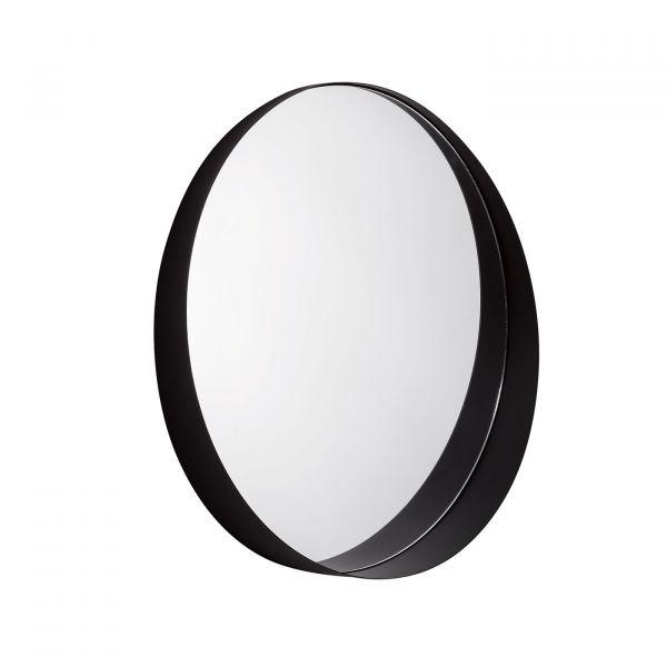 Espelho Metal Redondo 10509 9x60cm Preto Mart Presentes