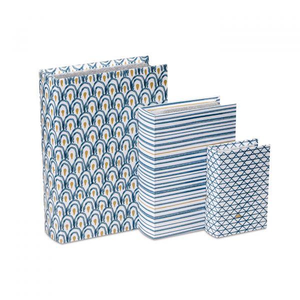 Livro Decorativo 10217 Grande Estamopado Azul Mart Presentes