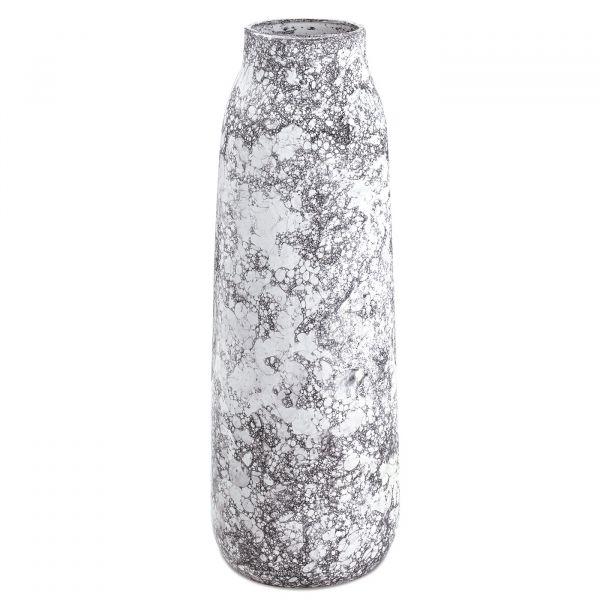 Vaso Cerâmica 10307 16x48cm  Branco Mart Presentes
