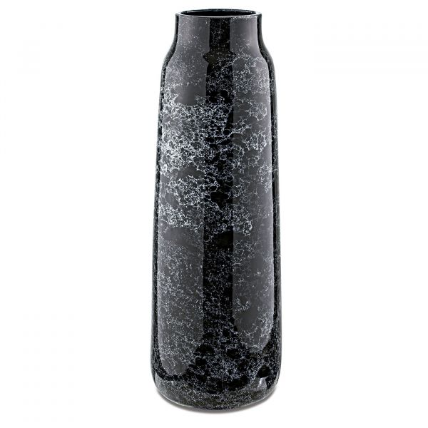 Vaso Cerâmica 10308 16x48cm  Preto Mart Presentes