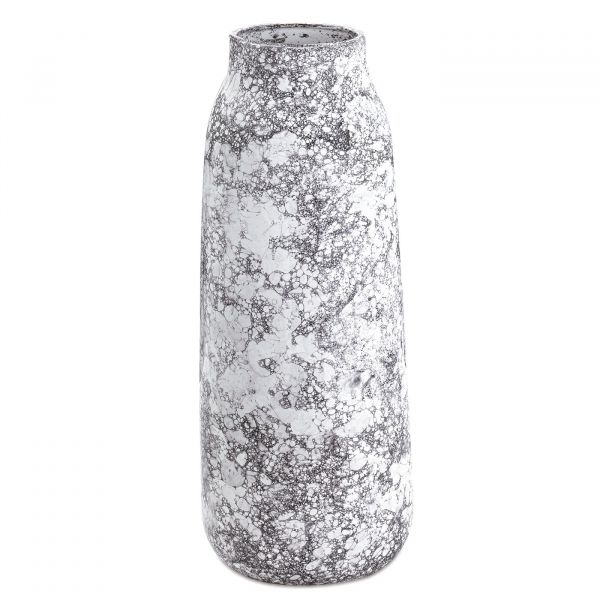 Vaso Cerâmica 10309 15x39cm  Branco Mart Presentes