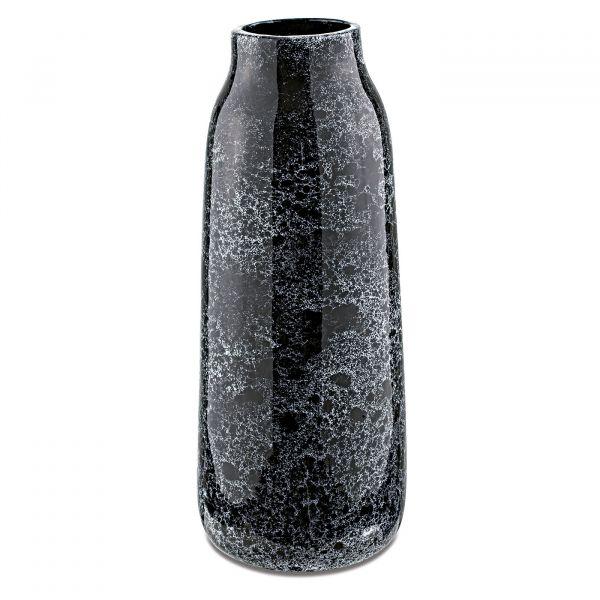 Vaso Cerâmica 10310 15x39cm  Preto Mart Presentes