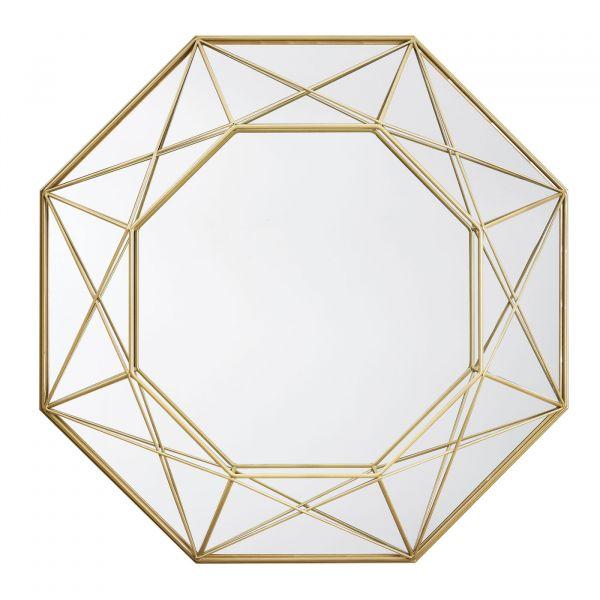 Espelho Metal 10516 46cm  Dourado Mart Presentes