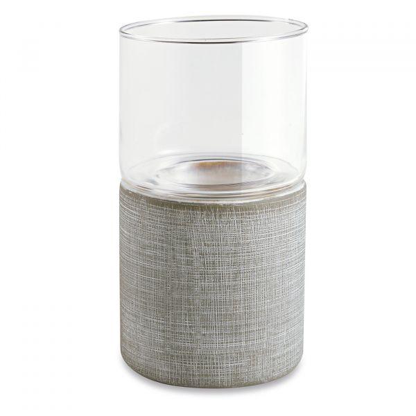 Vaso Cerâmica 10785 10x18cm  Off White Mart Presentes