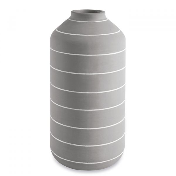 Vaso Cimento 10942 30cm  Cinza Mart Presentes