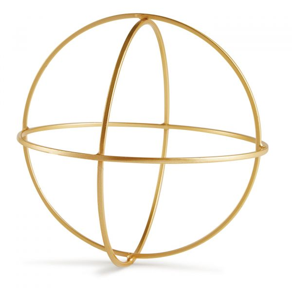 Peça Decorativa Geometrica Metal 10951  Dourada Mart Presentes