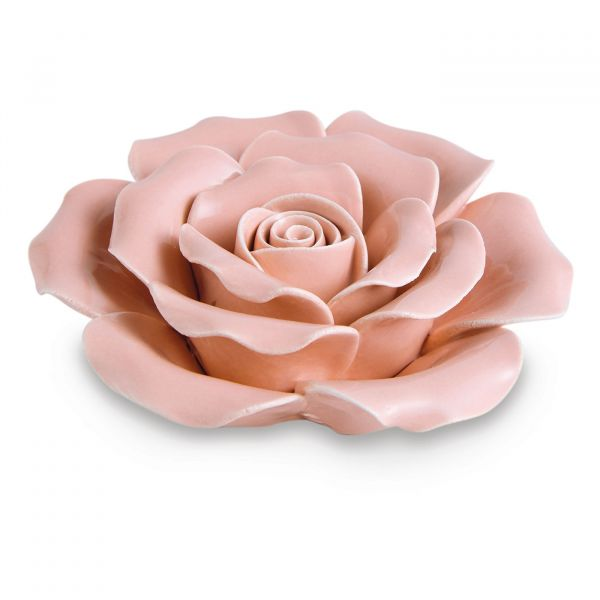 Peça Decorativa Flor Cerâmica 11287  Rose Mart Presentes