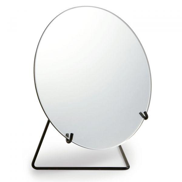 Espelho Redondo com Suporte Metal G 11444  Preto Mart Presentes