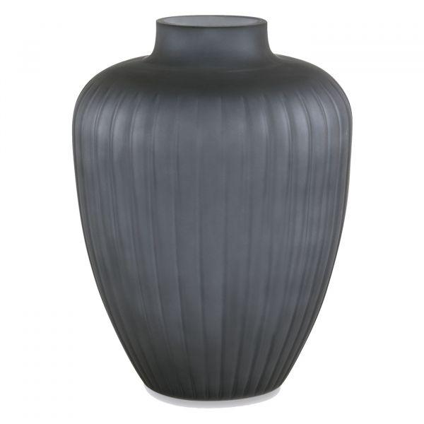 Vaso Vidro 11458 19x25cm  Cinza Mart Presentes