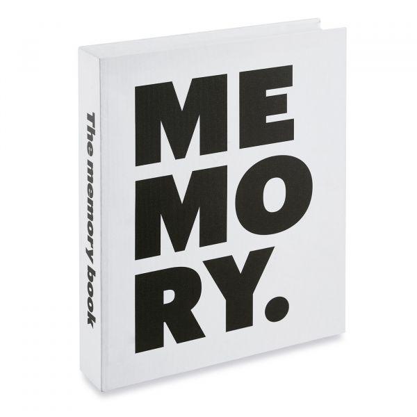 Livro Decorativo Memory 11708  Branco/Preto Mart Presentes