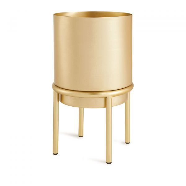 Cachepot  com Suporte Metal 10974p 25x15cm  Dourada Mart Presentes