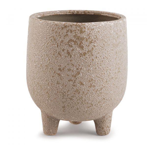 Cachepot Cerâmica 11479g 16cm  Marrom Mart Presentes