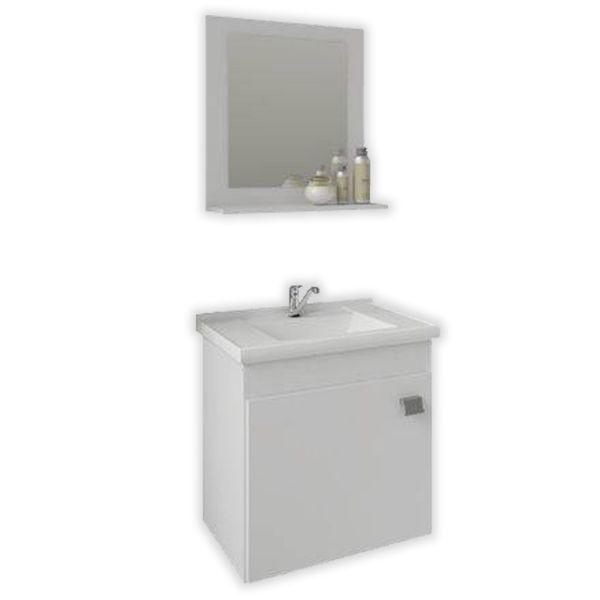 Kit Iris 44,8x31,5x46 Cuba e Espelho Branco MGM