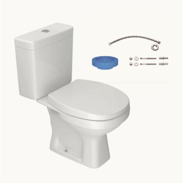 Kit Completo Bacia Acoplada Fast Branco Deca