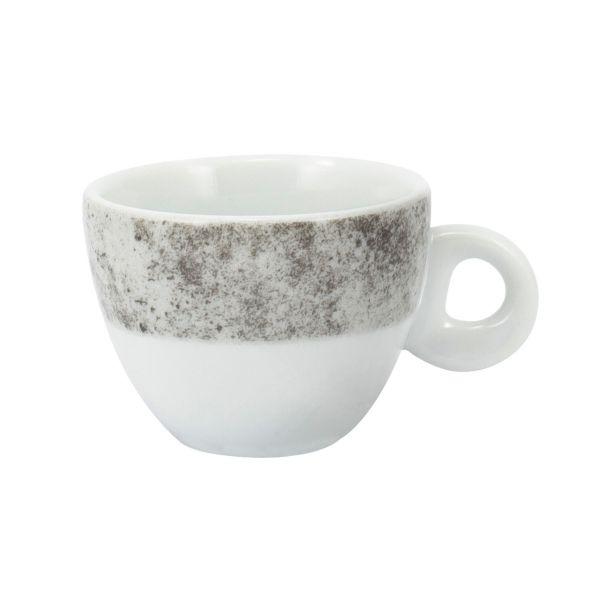 Xicara Chá com Pires Concret 14cm  Cinza Schmidt