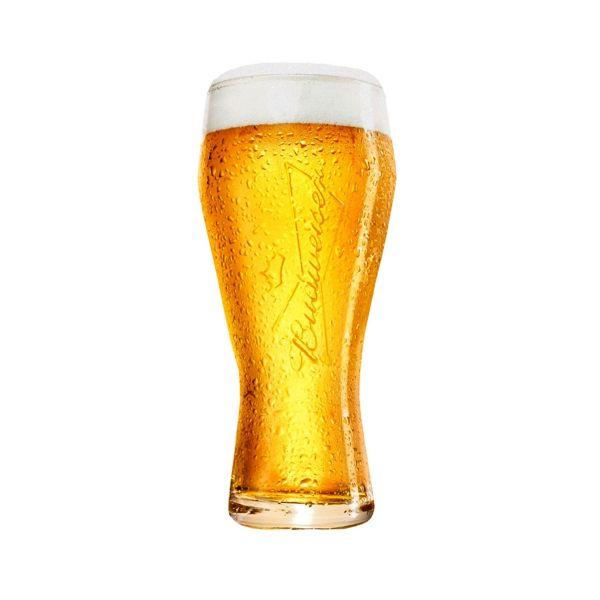 Taça Cerveja Budweiser 400ml  Transparente Globimport