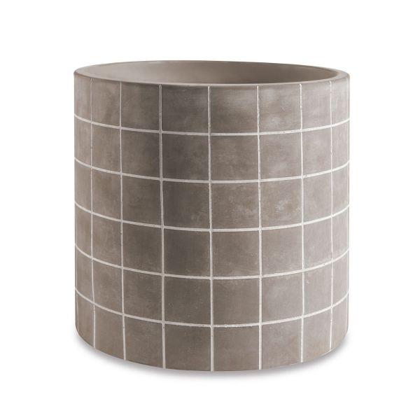 Cachepot Cimento 10899g 18x19cm  Cimento Mart Presentes