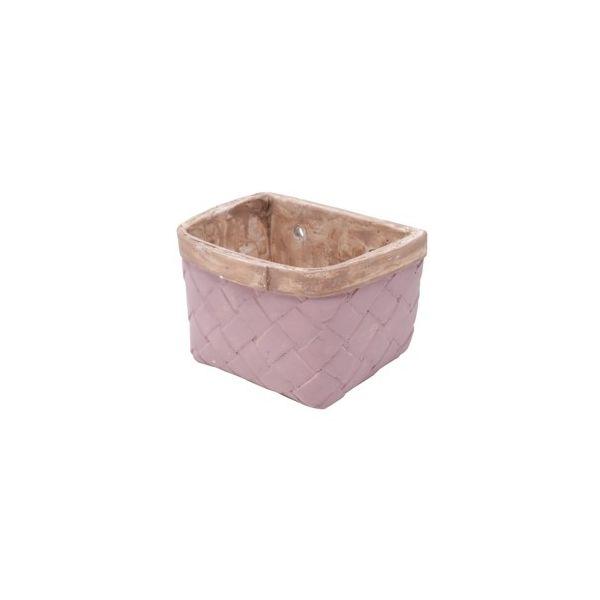 Vaso Square Fake Basket 44063 16x12cm Roxo Urban