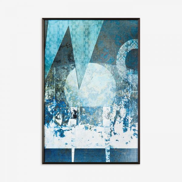 Quadro Blue Abstract CO210419A-1095 31x46cm  Artimage