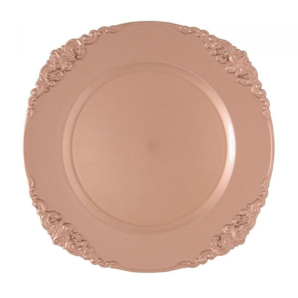 Sousplat Galles Barroco 151636  Rose Gold Copa & Cia