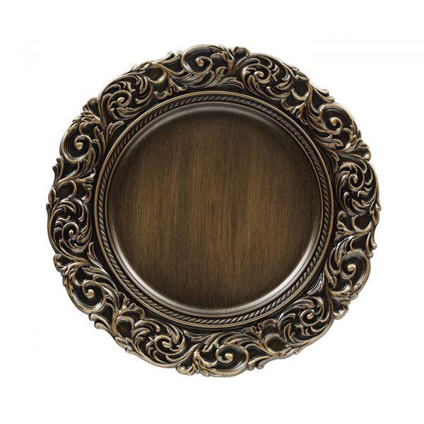Sousplat Imperial Florenca Antique 94630  Ouro Copa & Cia