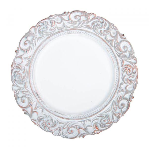Sousplat Imperial Florenca 174704  Branca Copa & Cia