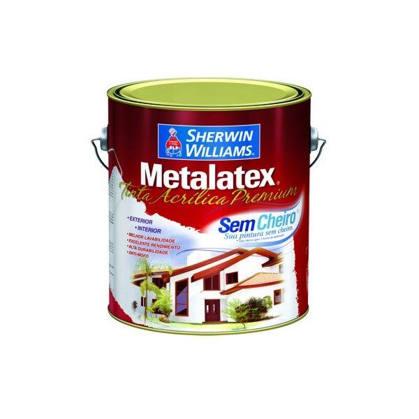 Tinta Metalatex Acrílico Sem Cheiro 3,6 litros Branca Sherwin