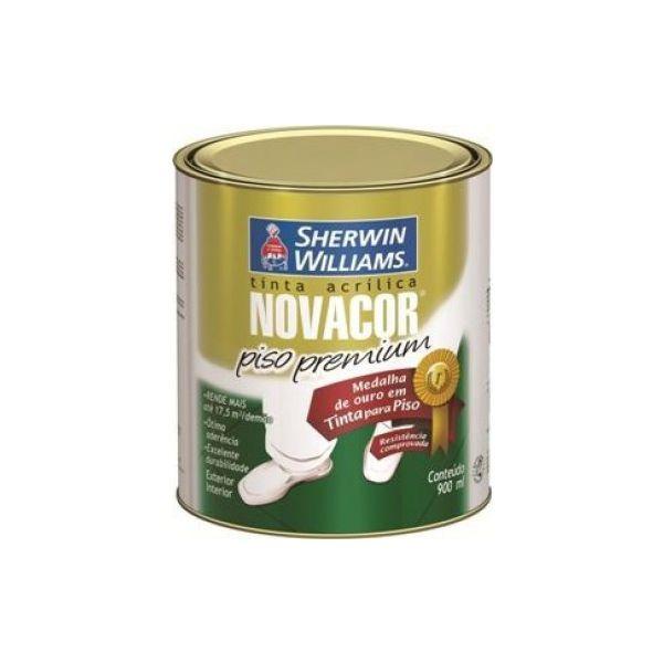 Tinta Acrílica Novacor Piso 0,9 litros Preto Sherwin Williams