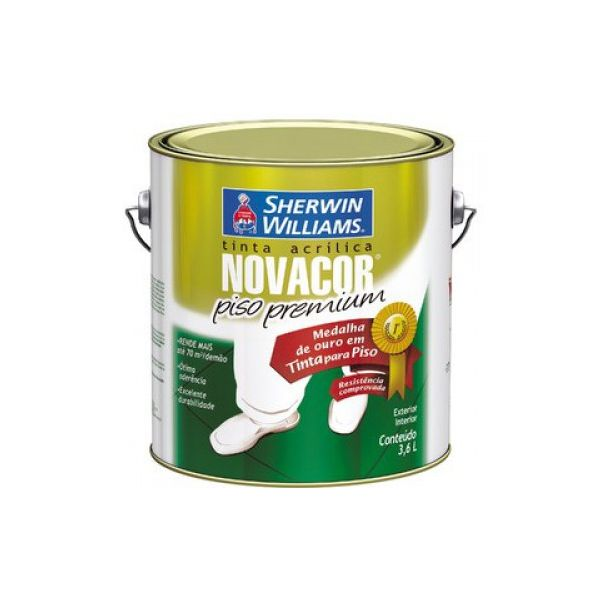 Tinta Acrílica Novacor Piso 3,6 litros Amarelo Demarcação Sherwin Williams